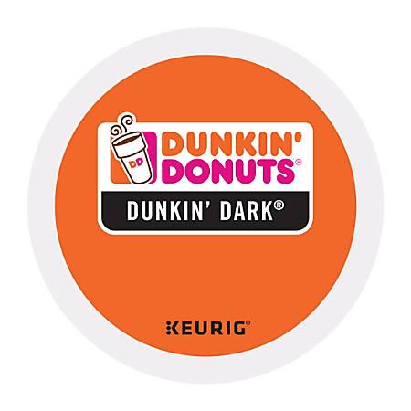 Dunkin' Donuts Coffee K-Cup® Pods, Dark Roast, 0.4 Oz, Box Of 24 Pods