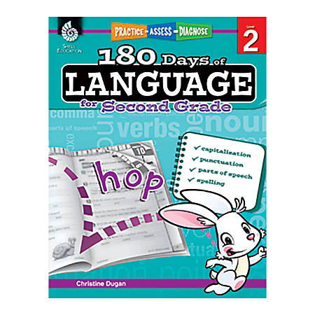 Shell Education 180 Days Of Language Workbook, Grade 2