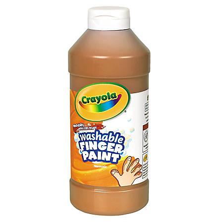 Crayola® Washable Finger Paint, 16 Oz., Brown