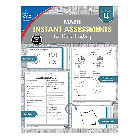 Carson-Dellosa Instant Assessments For Data Tracking Math Resource Book, Grade 4