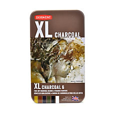 Derwent XL Charcoal Blocks Assorted Colors