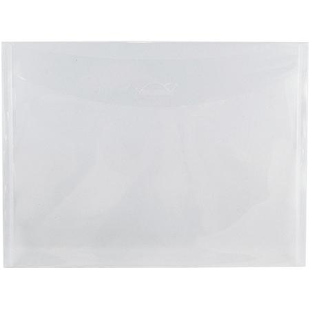 "JAM Paper® Plastic Envelopes, Letter-Size, 8 7/8"" x 12"", Clear, Pack Of 12"
