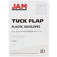 JAM Paper Plastic Envelopes Letter Size