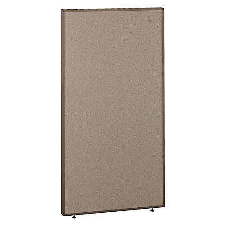 "Bush ProPanel™ System Privacy Panel, 66 7/8""H x 36""W x 1 3/4""D, Taupe/Tan, Standard Delivery Service"