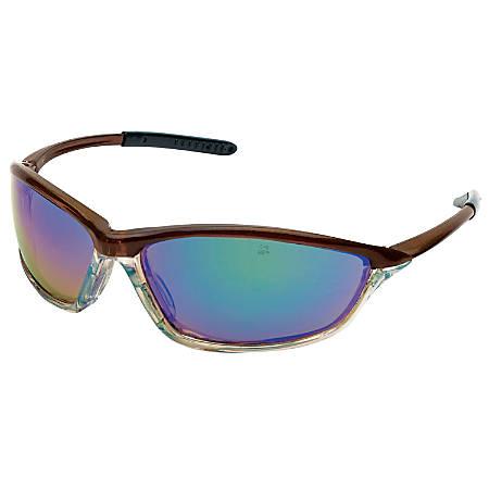 Shock Protective Eyewear, Emerald Mirror Lens, Duramass HC