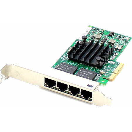 AddOn HP 811546-B21 Comparable 10/100/1000Mbs Quad Open RJ-45 Port 100m PCIe x4 Network Interface Card - 100% compatible and guaranteed to work