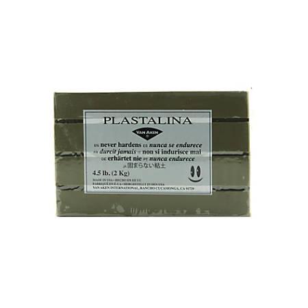 Van Aken Plastalina Modeling Clay, 4 1/2 Lb, Sculptor Gray