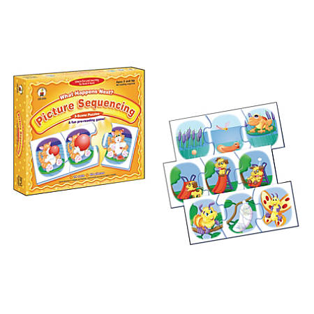 Carson-Dellosa What Happens Next? Puzzles Picture Sequencing Game, Ages 3 And Up