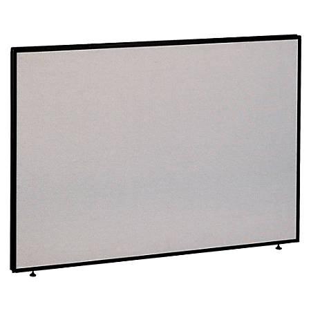 "Bush ProPanel™ System, Privacy Panel, 42 7/8""H x 60""W x 1 3/4""D, Light Gray/Slate, Standard Delivery Service"