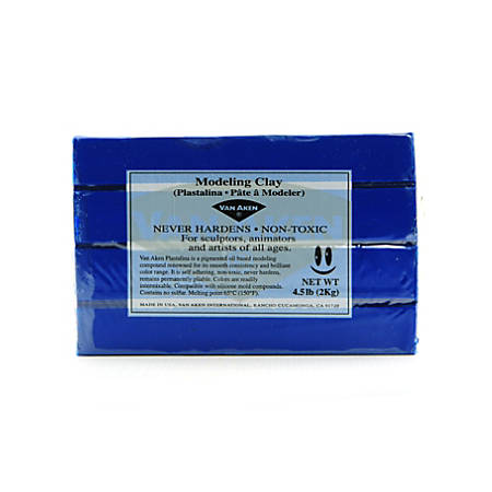 Van Aken Plastalina Modeling Clay, 4 1/2 Lb, Ultra Blue