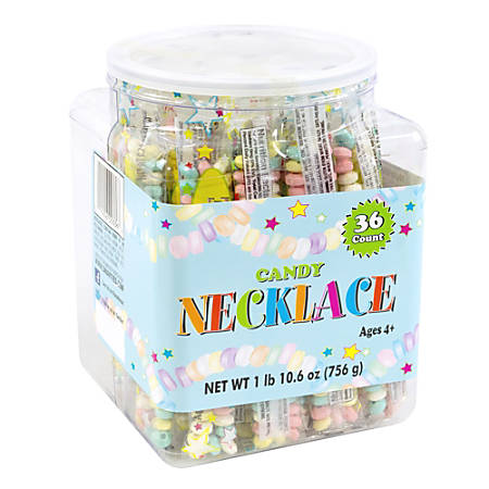 Smarties Candy Necklaces, Tub Of 36 Necklaces