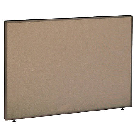 """Bush ProPanel™ System Privacy Panel, 42 7/8""""H x 60""""W x 1 3/4""""D, Taupe/Tan, Standard Delivery Service"""