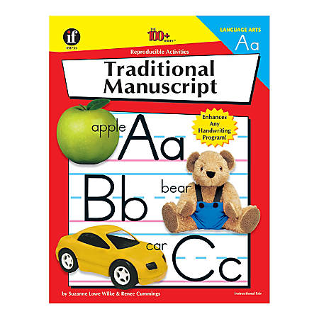 Instructional Fair The 100+ Series Traditional Manuscript Workbook, Grades K - 6