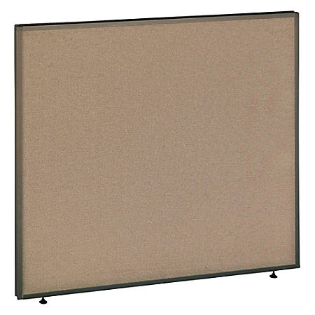 """Bush ProPanel™ System Privacy Panel, 42 7/8""""H x 48""""W x 1 3/4""""D, Taupe/Tan, Standard Delivery Service"""