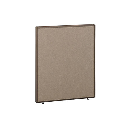 "Bush ProPanel™ System Privacy Panel, 42 7/8""H x 36""W x1 3/4""D, Taupe/Tan, Standard Delivery Service"