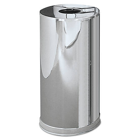 Rubbermaid® Commercial Atrium™ Round Waste Container, Stainless Steel, 15 Gallons