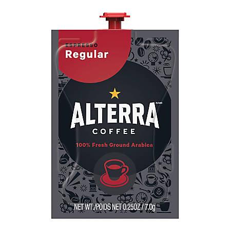FLAVIA® Coffee ALTERRA® Espresso, Single-Serve Freshpacks, 0.25 Oz, Carton Of 80