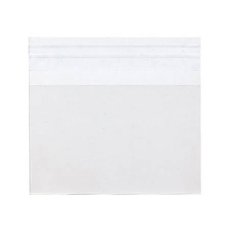 """JAM Paper® Self-Adhesive Cello Sleeve Envelopes, 8 7/16"""" x 10 1/4"""", Clear, Pack Of 100"""