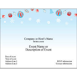 Custom Party Invitations 5 12 x