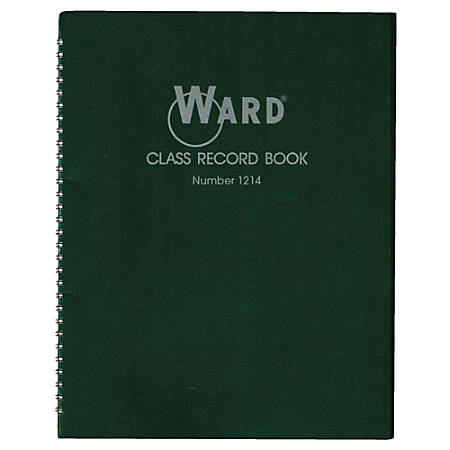 Ward 12-14 Week Class Record Books, Green, Pack Of 4