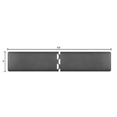 Smart Step Supreme Puzzle Runner 2-Piece Mat Set, 9 1/2'L x 2'W (Assembled), Gray