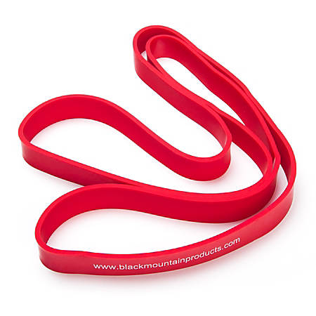 "Black Mountain Products Strength Loop Resistance Band, 1"" Thick, Red"