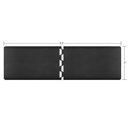 Smart Step Supreme Puzzle Runner 2-Piece Mat Set, 9 1/2'L x 3'W (Assembled), Black