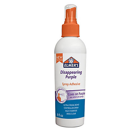 Elmer's® Adhesive Spray, 8 Oz, Disappearing Purple