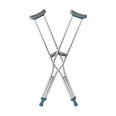 DMI Aluminum Push Button Crutches Adult