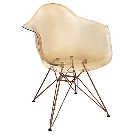 Lumisource Neo Flair Mid-Century Modern Chairs, Amber/Copper