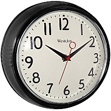 Westclox Wall Clock BlackChrome Case