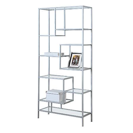 Monarch Specialties Asymmetrical 9 Shelf Bookcase