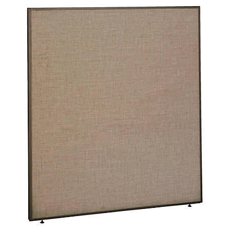 "Bush ProPanel™ System Privacy Panel, 66 7/8""H x 60""W x1 3/4""D, Taupe/Tan, Standard Delivery Service"
