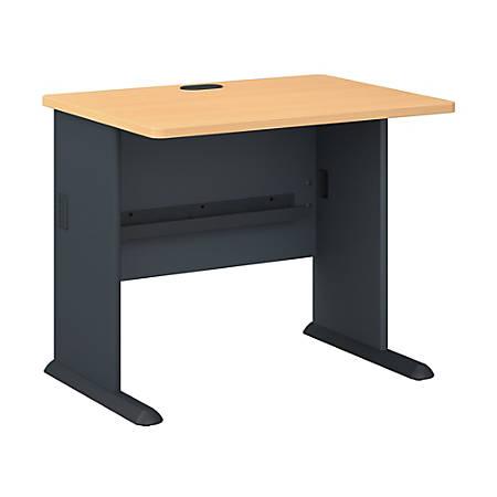 "Bush Business Furniture Office Advantage Desk 36""W, Beech/Slate, Standard Delivery"