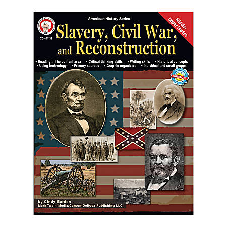 Mark Twain American History Series, Slavery Civil War And Reconstruction, Grades 6 - 12