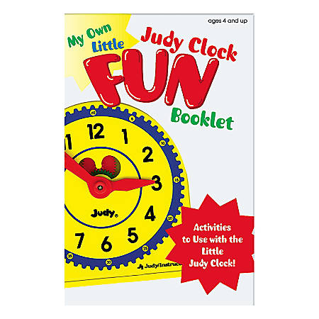 Judy Instructo My Own Little Judy® Clock With Booklet, Grades Pre-K - 1