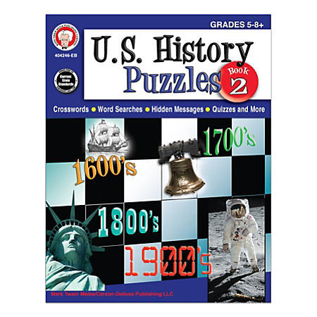 Mark Twain Media U.S. History Puzzles Book 2, Grades 5-8