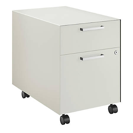 "HON® Fuse Collection 23-1/4""D 2-Drawer Letter-Size Metal Mobile Vertical Box/File Pedestal, Loft"