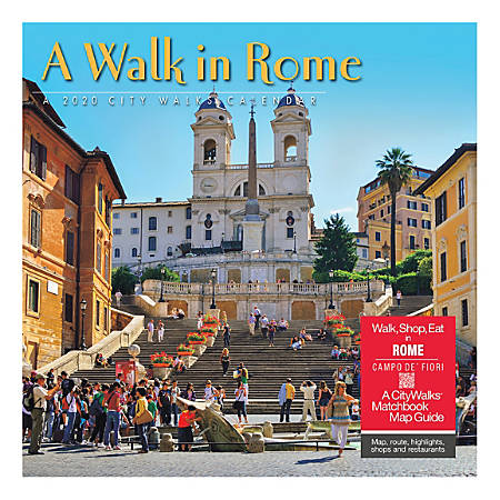 """Willow Creek Press Scenic Monthly Wall Calendar, 12"""" x 12"""", A Walk In Rome, January To December 2020"""