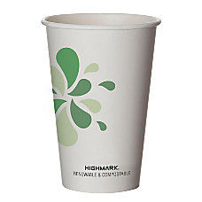 Highmark Compostable Hot Drink Cups 16