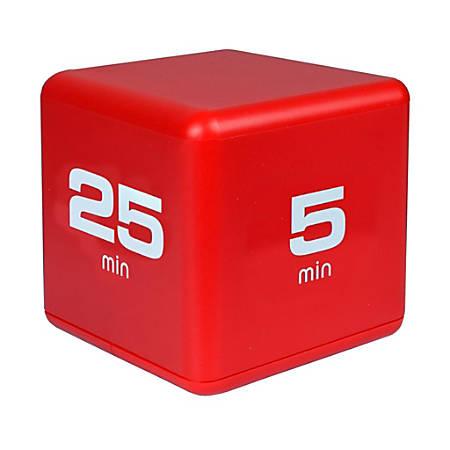 Teledex TimeCube Timer, 5-25 Minutes, Red