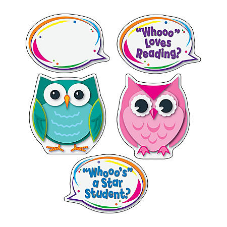 Carson-Dellosa Colorful Owl Talkers Bulletin Board Set, Grades Pre-K - 8