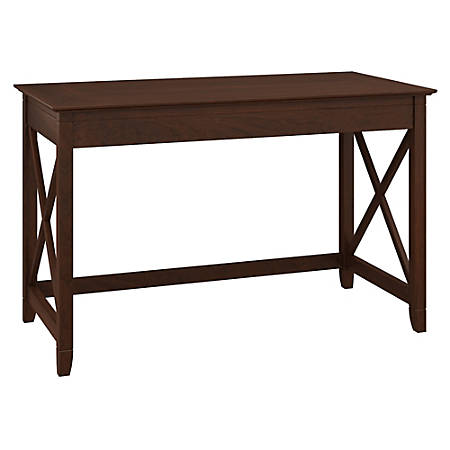 "Bush Furniture Key West Writing Desk, 48""W, Bing Cherry, Standard Delivery"