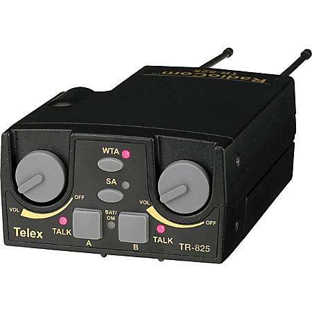 Telex TR-825 UHF Two-Channel Binaural Wireless Beltpack