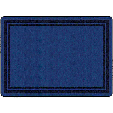 "Flagship Carpets Double-Border Rectangular Rug, 72"" x 100"", Dark Blue"
