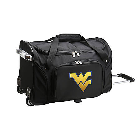 Denco Sports Luggage Rolling Duffel Bag, West Virginia Mountaineers, Black