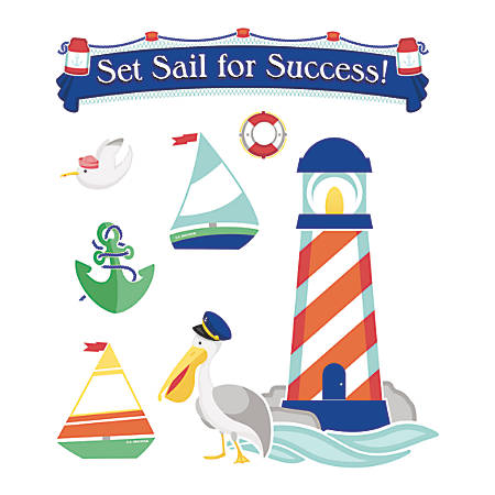 Carson-Dellosa S.S. Discover Set Sail For Success! Bulletin Board Set, Multicolor, Grades Pre-K - 5
