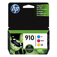 HP 910 Cyan Magenta Yellow Original