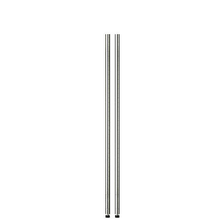 "Honey-Can-Do Steel Shelving Support Poles, 54"" x 1"", Chrome, Pack Of 2"