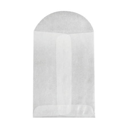 "LUX Open-End Envelopes With Flap Closure, 3"" x 4 1/2"", Glassine, Pack Of 250"